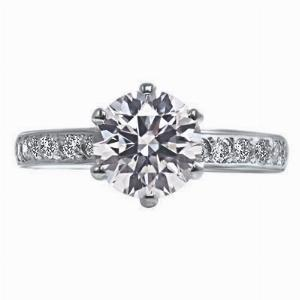 Brilliant Cut 6 Claw Engagement Ring - 1.19ct - J Internally Flawless