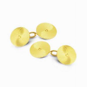 Gold Cuff Links By Mellerio