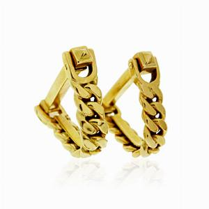 18ct Yellow Gold Curb Chain Cufflinks