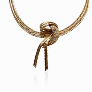 18ct Yellow Gold Detachable Brooch Necklace