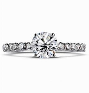 DIANA Multi Option Engagement Ring with Brilliant Cut Diamond Micro Set Shoulders
