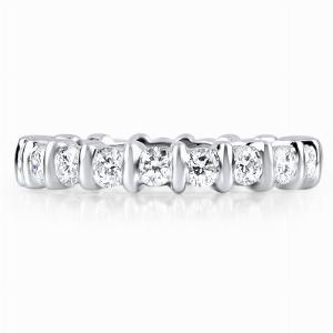 ABRUZZO Bar Set Brilliant Cut Or Princess Cut Full Eternity Rings