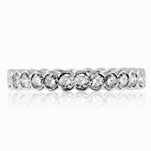 VERONA Rub-Over Set Brilliant Cut Full Eternity Rings