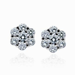 Brilliant Cut Diamond Cluster Studs