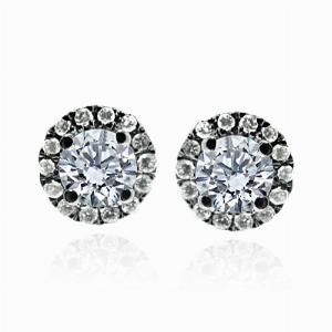 Brilliant Cut Cluster Studs 0.40ct