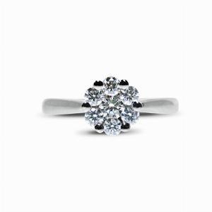 Brilliant Cut Diamond Cluster Ring - 0.50ct