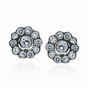 Diamond Cluster Earrings 1.30ct
