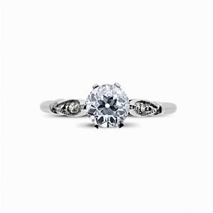 Vintage Old Cut Diamond Solitaire Ring - 0.50ct