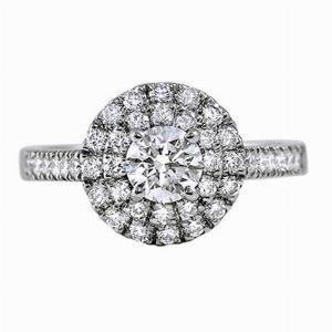 Brilliant Cut Cluster Engagement Ring 0.40ct G VS2 GIA