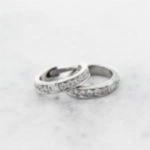 18ct White Gold Diamond Ear Cuffs