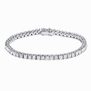 Claw Set Princess Cut Diamond Line Bracelet