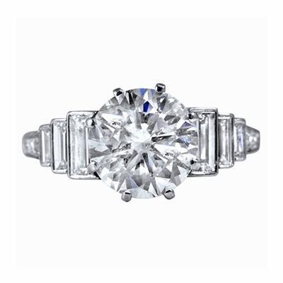 2.80ct Art-Deco Style Diamond Engagement Ring