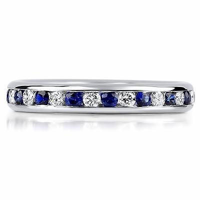ORVIETO Channel Set Coloured Stone & Brilliant Cut Eternity Rings
