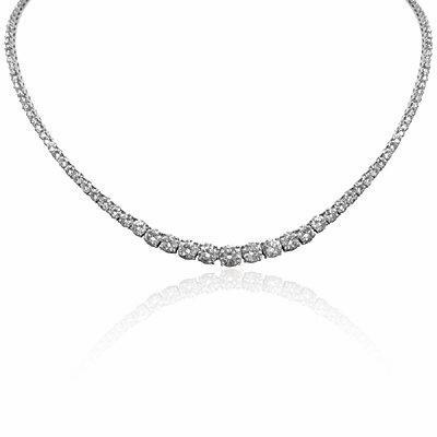 Brilliant Cut Claw Set Diamond Necklace 16.16ct