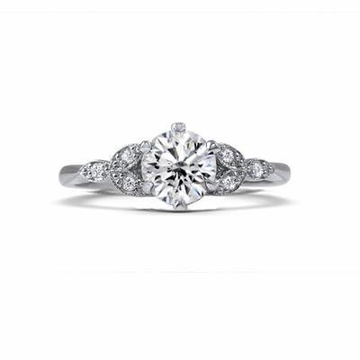 Ivy 0.70ct E SI1 Brilliant Cut Triple Leaf Diamond Ring