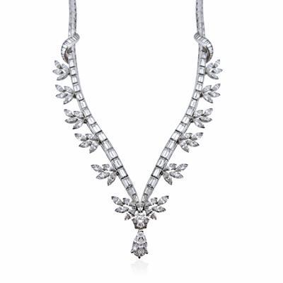 Pear Shape Diamond Drop Necklace 25ct Approx