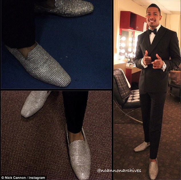 d263724e509 Nick Cannon Shocks in Diamond Set Shoes