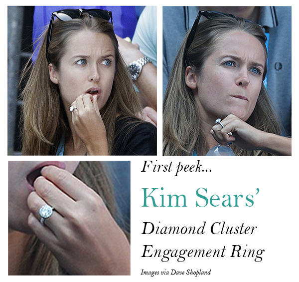 Sears Wows The Crowds With Her Engagement Ring At The Australian Open