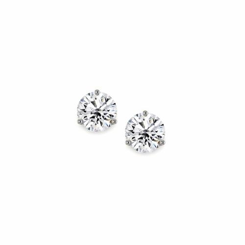 Round Brilliant Cut Diamond 3 Claw Stud Earrings 0.20ct - 1.00ct