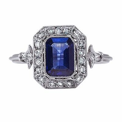 Sapphire And Diamond Cluster Ring - 1.20ct