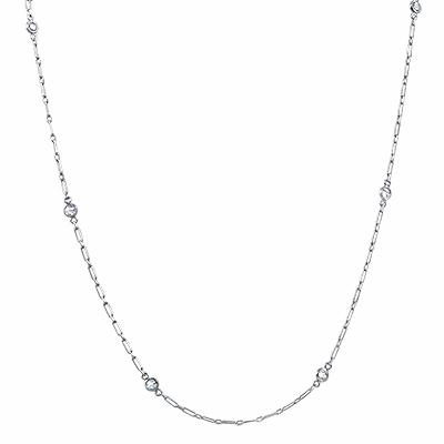 Platinum Diamond Necklace - 0.40ct Approx