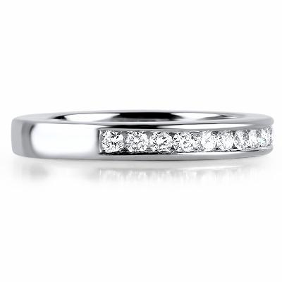 VENEZIA Channel Set Brilliant Cut Half Eternity Rings