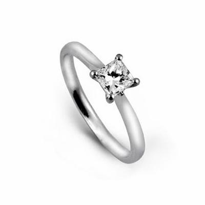 Princess Cut Engagement Ring 0.55ct DVVS2 GIA