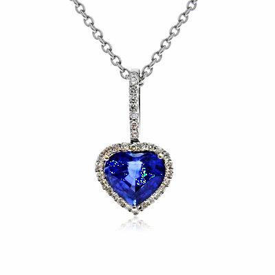 Sapphire pendants sapphire heart shape diamond pendant sapphire heart shape diamond pendant 264ct aloadofball Gallery