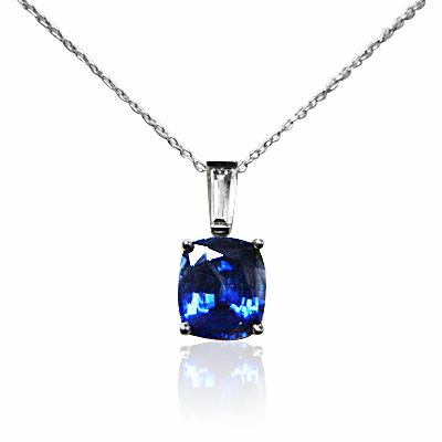 necklace pendant gold blue sapphire saphire white and diamond