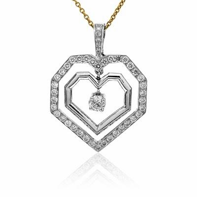 Diamond Two Heart Pendant Designed By Phil Collins