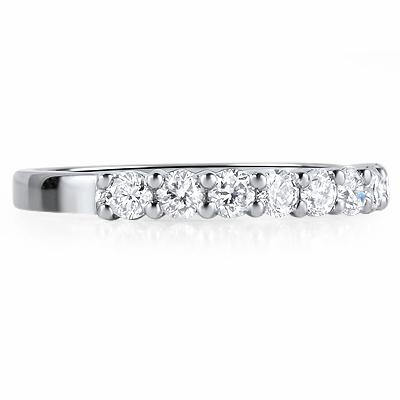 LUCCA Claw Set Brilliant Cut Half Eternity Rings