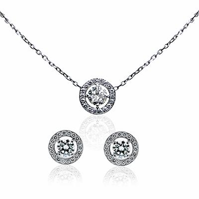 Brilliant Cut Diamond Pendant & Earring Suite 2.63ct FVVS1 HRD