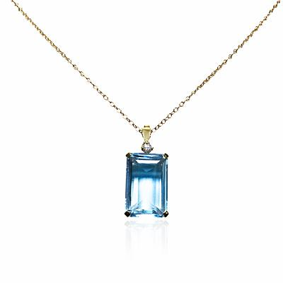 Coloured stone pendants aquamarine diamond pendant aloadofball Image collections