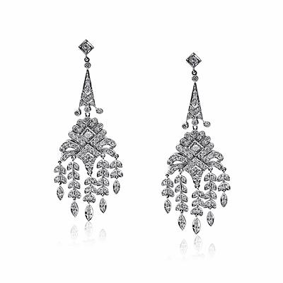 Brilliant Cut Chandelier Drop Earrings