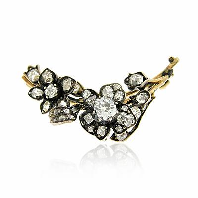 Old Cut Diamond Brooch