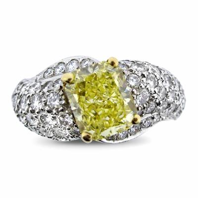 Natural Fancy Intense Yellow Radiant Cut 2.38ct GIA By Graff