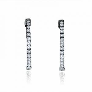 Micro-Set Brilliant Cut Diamond Hoops