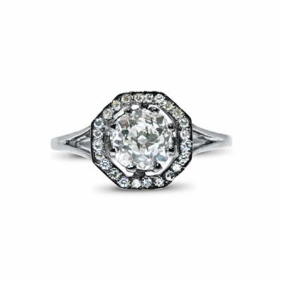 Old Cut Diamond Cluster Ring - 0.85ct
