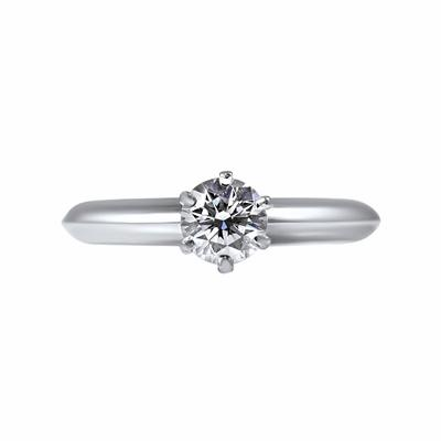 Brilliant Cut Diamond Engagement Ring 0.51ct F VS1 By Tiffany & Co