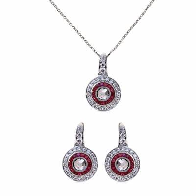 Rose Cut Diamond and Ruby Target Suite
