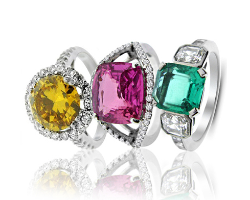 Coloured Stone Engagement Rings