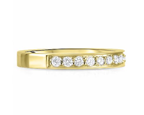 Half Diamond Wedding Rings