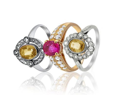Pink & Yellow Sapphire & Diamond