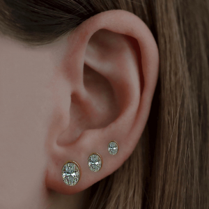 18ct White Gold 1.40ct Oval Diamond Earrings