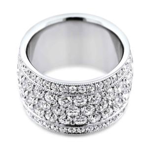 Platinum Multi-Row Diamond Dress Ring