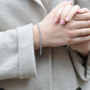 18ct White Gold 4.68ct Diamond Line Bracelet
