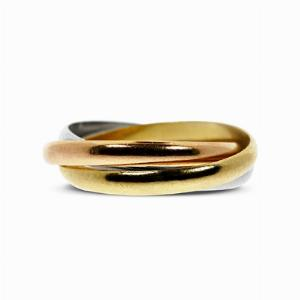18ct Gold Trinity Ring - By Cartier