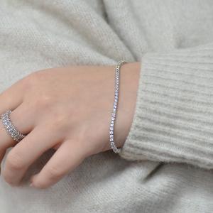 18ct White Gold 2.64ct Diamond Line Bracelet