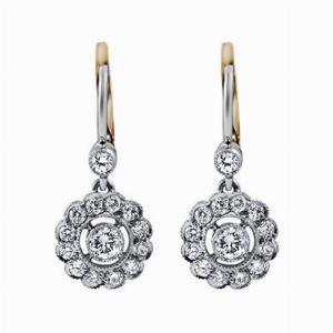Brilliant Cut Diamond Cluster Earrings 1.00ct Approx.