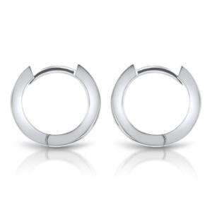 18ct White Gold 6mm Diamond Huggie Earrings